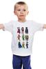 "Детская футболка ""Лига Правосудия (Justice League)"" - flash, супермен, молния, бэтмен, лига правосудия"