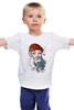 """Детская футболка классическая унисекс """"МОРЯК"""" - якорь, акварель, моряк, компас, подзорная труба"""