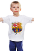 "Детская футболка ""барселона"" - футбол, эмблема, barcelona, барселона"