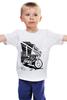 """Детская футболка """"Мотоциклы"""" - white, black, motorcycle, bike, harley"""