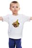 """Детская футболка """"Мопс и банановая кожура"""" - pug, пёс, банан, мопс, банановая кожура"""