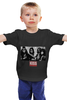 "Детская футболка """"kiss"" (черная)."" - music, rock, kiss"