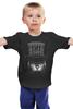 """Детская футболка классическая унисекс """"Кот в цилиндре"""" - кот, птица, cat, клетка, цилиндр"""