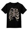 "Детская футболка классическая унисекс ""Рёбра"" - кости, скелет, рёбра"