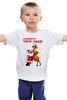 """Детская футболка классическая унисекс """"Happy New Year"""" - праздник, happy new year, новый год, стиль, санта, олень, santa claus, deer"""