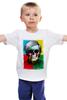 """Детская футболка классическая унисекс """"Череп-арт"""" - skull, череп, энди уорхол, поп-арт, pop art, andy warhol"""