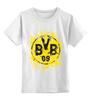 """Детская футболка классическая унисекс """"боруссия дортмунд"""" - логотип, германия, боруссия, дортмунд"""