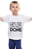 """Детская футболка """"I don`t stop"""" - фраза, философия, мотивация, цитата, dont stop"""
