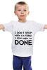 "Детская футболка классическая унисекс ""I don`t stop"" - фраза, философия, мотивация, цитата, dont stop"