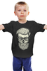 """Детская футболка классическая унисекс """"Череп Хипстера"""" - skull, череп, хипстер, усы, hipster"""