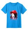 """Детская футболка классическая унисекс """"Мерлин Менсон """" - авторские майки, рисунок, менсон"""