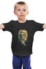 """Детская футболка """"Лев с пистолетом """" - king, lion, swag, gun"""