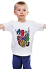 """Детская футболка классическая унисекс """"Супергерои Мстители"""" - hulk, мстители, spider-man, avengers, captain america"""
