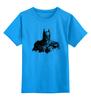 """Детская футболка классическая унисекс """"Бэтмен"""" - batman, бэтмен, супергерой, dc comics, летучая мышь"""