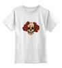 """Детская футболка классическая унисекс """"Mrs. Skull"""" - череп, цветы, рисунок"""