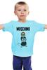 "Детская футболка ""Moschino"" - прикол, юмор, бренд, fashion, brand, branding"