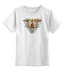 """Детская футболка классическая унисекс """"сердце в клетке"""" - сердце, цветы, птицы, клетка, розы"""