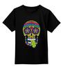 """Детская футболка классическая унисекс """"Череп """"Рок-н-Ролл"""""""" - skull, череп, mexican skull"""