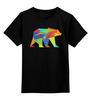 """Детская футболка классическая унисекс """"Геометрический Медведь"""" - арт, bear, медведь, дизайн, фигуры"""