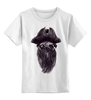 "Детская футболка классическая унисекс ""Мопс Пират"" - собаки мопс, pug, пират"