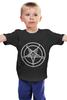 """Детская футболка классическая унисекс """"Печать Бафомета #2"""" - дьявол, satan, сатана, devil, посотоне"""