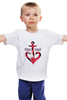 """Детская футболка классическая унисекс """"Красный якорь"""" - море, якорь, anchor, sailor"""