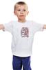 """Детская футболка классическая унисекс """"Свадьба в стиле Марка Шагала"""" - сердце, любовь, счастье, свадьба, орнамент, пара"""