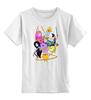 """Детская футболка классическая унисекс """"Adventure time"""" - adventure time, время приключений, джейк, финн"""