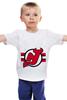 """Детская футболка классическая унисекс """"New Jersey Devils"""" - хоккей, nhl, нхл, нью-джерси девилс, new jersey devils"""