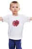 """Детская футболка """"Стилизованный  винтажный арт-цветок"""" - арт, авторские майки, цветы, узор, стиль, flower, рисунок, винтаж, мак, poppy"""