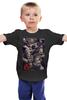 "Детская футболка классическая унисекс ""мама анархия папа стакан бурбона"" - sons of anarchy, сыны анархии"