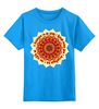 """Детская футболка классическая унисекс """"Солнечная  мантра"""" - солнце, надписи, индуизм, мантра, санскрит"""