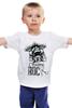 "Детская футболка ""I Wanna Rock W"" - череп, черепа, рок, rock, rock n roll"