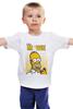 """Детская футболка классическая унисекс """"Simpsons / Симпсоны"""" - гомер, homer, симпсоны, the simpsons, kinoart"""