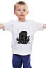 """Детская футболка классическая унисекс """"Fat Alien"""" - alien, чужой, обжорство"""
