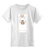 """Детская футболка классическая унисекс """"Мишка Бо фотограф"""" - белая, мишка, фото, фотоаппарат, фотограф"""