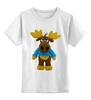 """Детская футболка классическая унисекс """"Лось"""" - приколы, прикольные, футболка, смешные"""