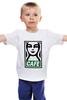 """Детская футболка классическая унисекс """"Starbucks (Obey)"""" - кофе, coffee, starbucks, старбакс, cafe"""