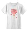 "Детская футболка классическая унисекс """"Happy Valentine's Day!"""" - с днём валентина"