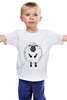 """Детская футболка """"Овечка Символ Нового 2015 года"""" - новый год, серый, белый, символ года, new year, мимими, sheep, 2015, овечка, няшмяш"""
