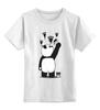 """Детская футболка классическая унисекс """"Панда вандал"""" - панда, panda, wwf, животные"""