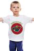 """Детская футболка классическая унисекс """"minnesota wild"""" - спорт, хоккей, nhl, нхл, миннесота уайлд"""