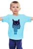 """Детская футболка классическая унисекс """"Кот в шарфе"""" - кот, зима, cat, шарф"""