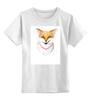 """Детская футболка классическая унисекс """"Маленькая хитрость"""" - арт, лето, рисунок, fox, лиса"""