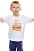 "Детская футболка ""Трамвай "" - прикол, арт, orange, city, tram"