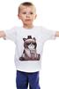 "Детская футболка классическая унисекс ""Котик НЕТ"" - кошка, grumpy cat, сердитый котик, соус тардар"
