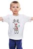 "Детская футболка классическая унисекс ""Новогодняя фуфайка"" - красивая, new year, white and snow-white, сказочная, christmas, reindeer"