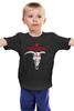 """Детская футболка классическая унисекс """"Родолюбие"""" - череп, коловрат, славяне, язычество, родолюбие"""