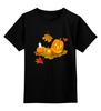"""Детская футболка классическая унисекс """"""""HALLOWEEN"""""""" - праздник, хэллоуин, листья, осень, вечеринка, веселье, тыква, свечка"""