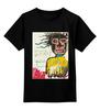 """Детская футболка классическая унисекс """"Jean-Michel Basquiat"""" - граффити, корона, basquiat, баския, жан-мишель баския"""